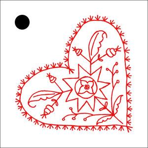 5-pack hängkort ALLMOGEJUL 5x5 cm röd