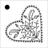 5-pack hängkort ALLMOGEJUL 5x5 cm svart
