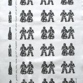 kökshandduk JULEFRID svart 50x70 cm