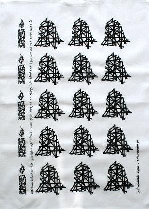 kökshandduk JULSTÖK svart 50x70 cm