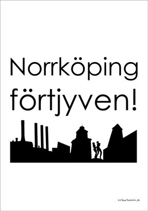 poster NORRKÖPING 21x30 cm